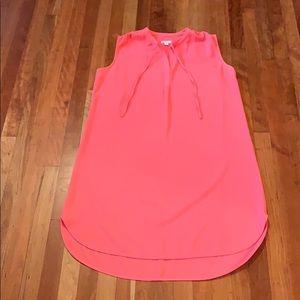 Very pretty flowy oversized sleeveless shirt dress